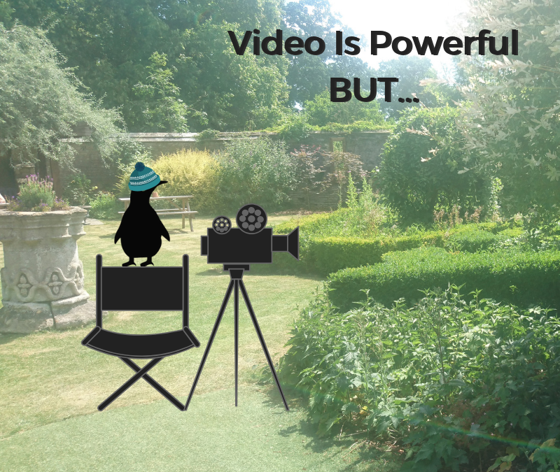 Video is powerful BUT…